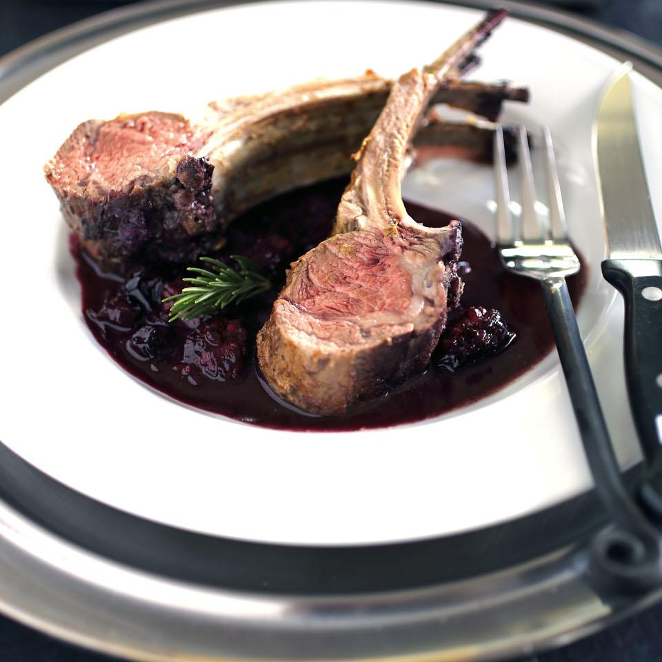 Rack of Lamb with Blueberry Sauce Chef John