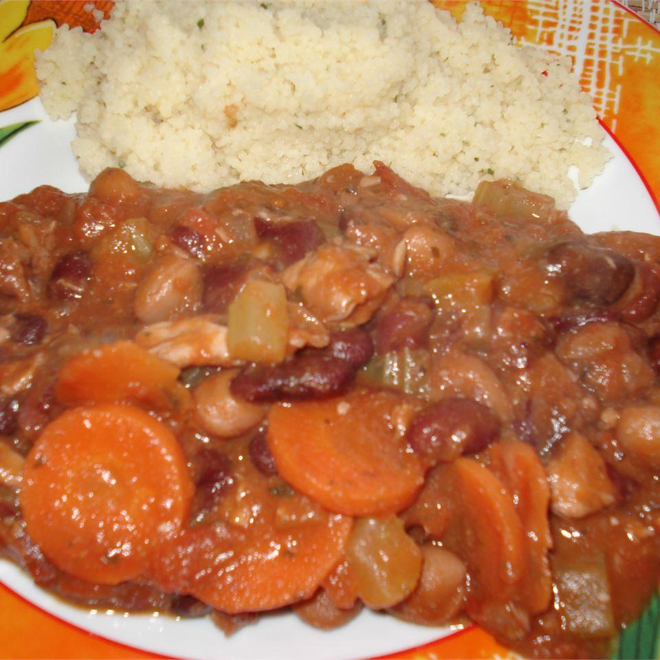 1-Pot, 3-Bean Chicken Stew