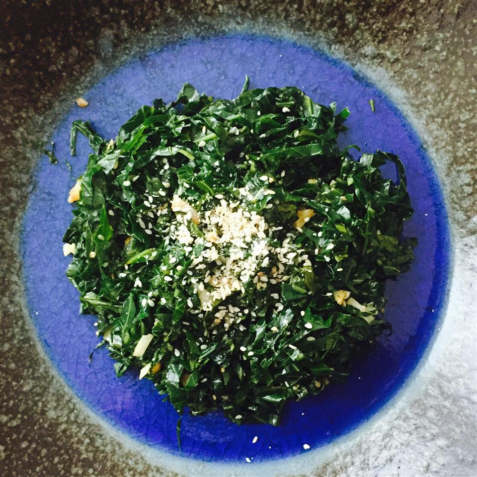 Easy Japanese-Style Vegan Collard Greens