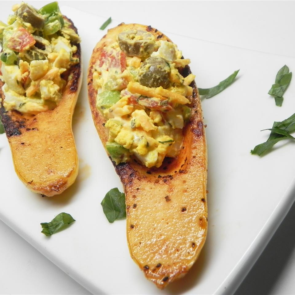 Egg Salad in Squash Boats