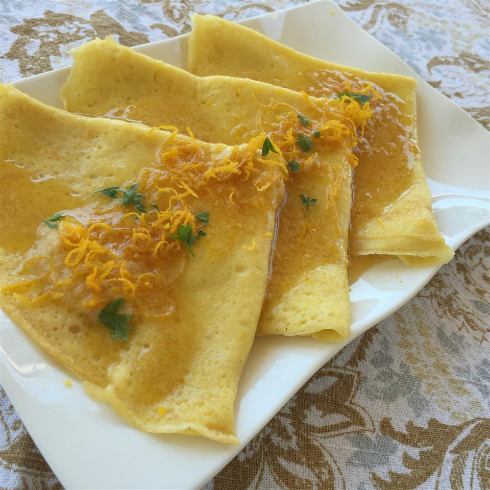 Gluten-Free Butter Crepes with Orange Blossom Honey Butter Candice