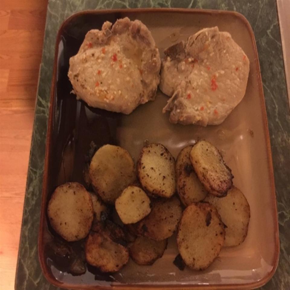 Easy Baked Pork Chops Marinated in Italian Dressing