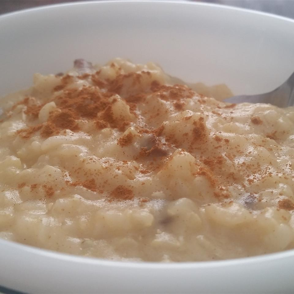 Healthier Creamy Rice Pudding