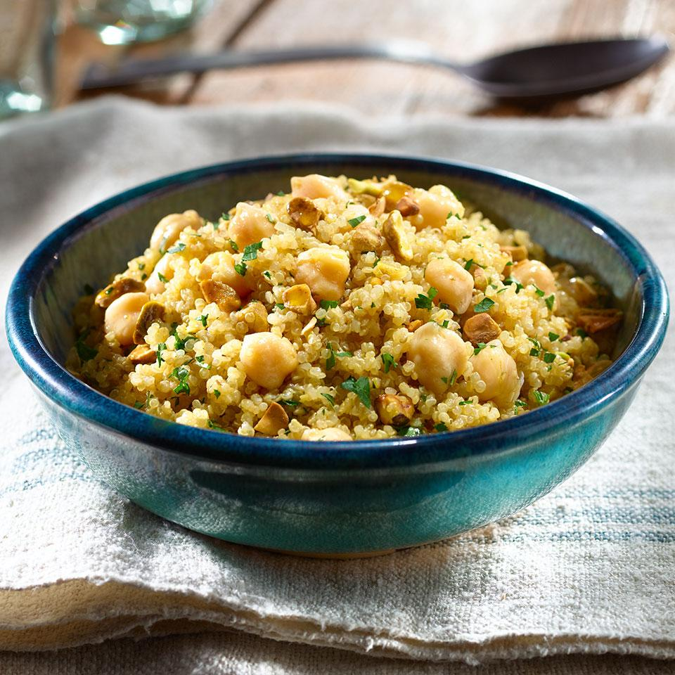 Herbed Quinoa and Chickpea Pilaf
