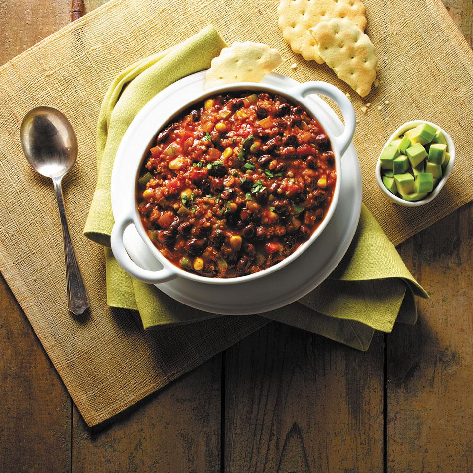 Quinoa and Black Bean Chili from GOYA®