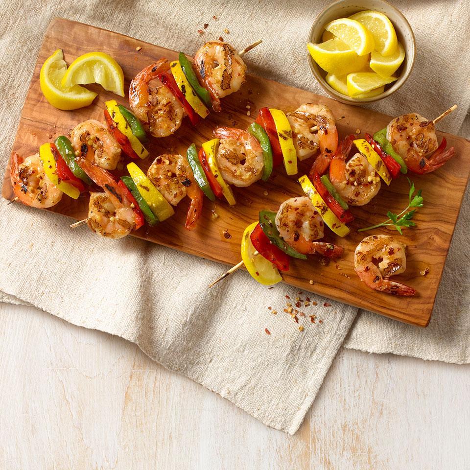 Spanish Garlic Shrimp on Skewers