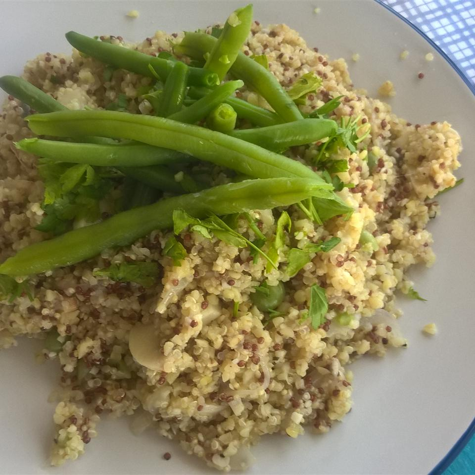 Quinoa with Mushrooms