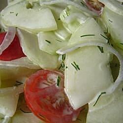 easy lemony dilly cucumber salad recipe