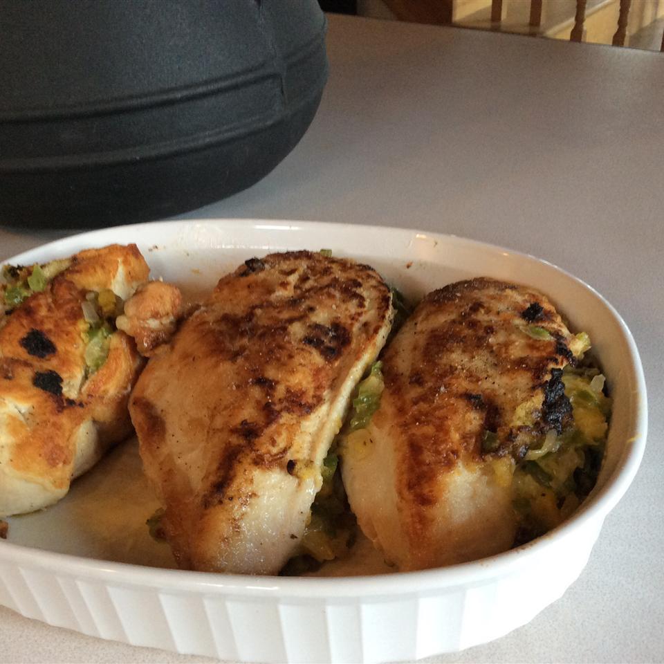 Squash Stuffed Chicken Breasts
