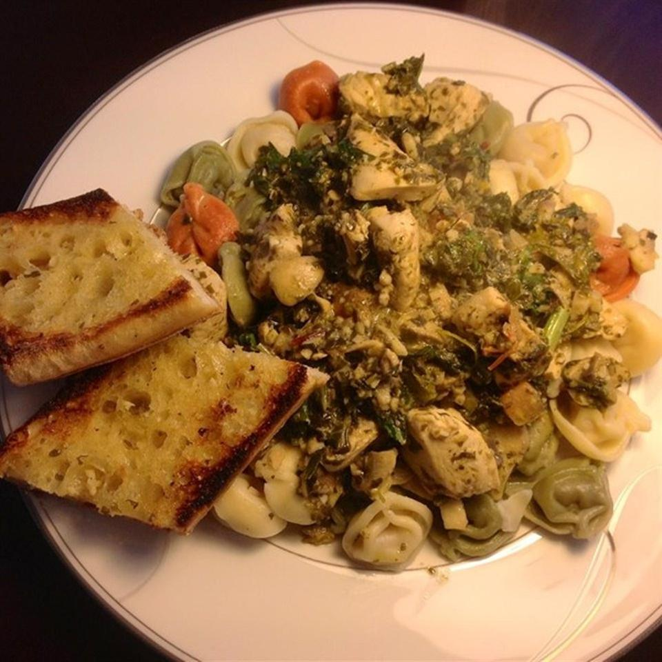 Chicken Spinach Pesto Pasta Kenneth DeBaeremaeker