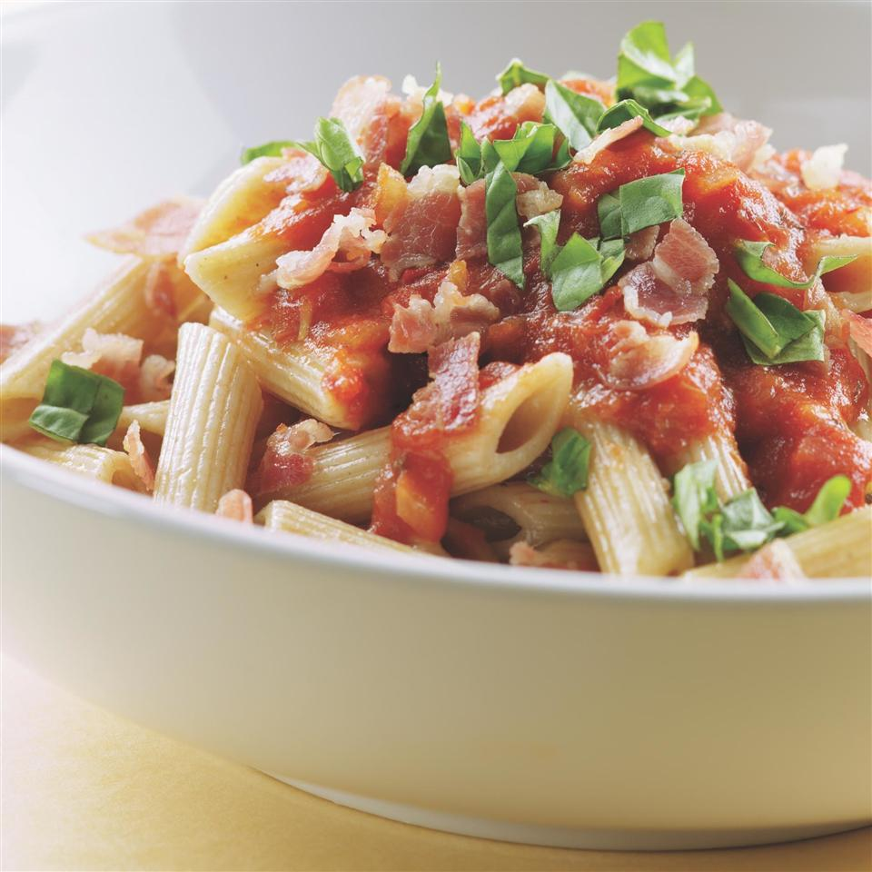 Penne with Vodka Sauce & Capicola EatingWell Test Kitchen