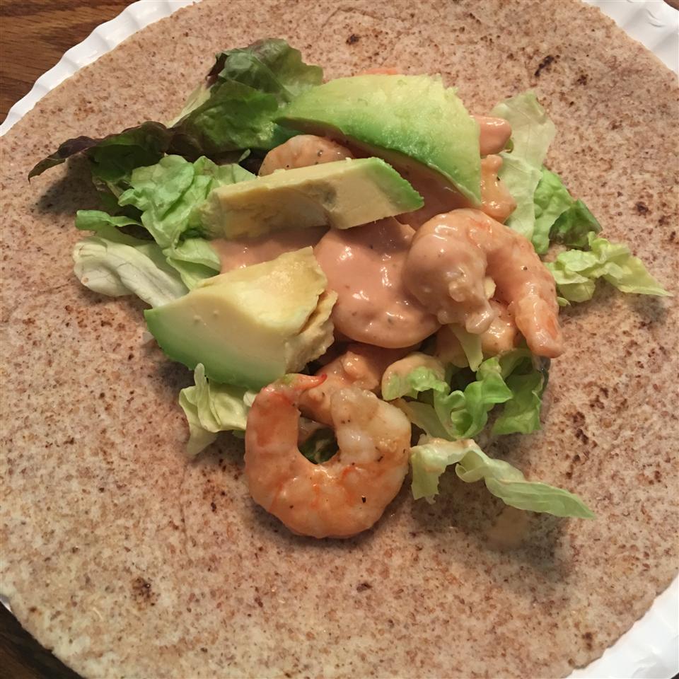 Shrimp and Avocado Wraps Sharon A