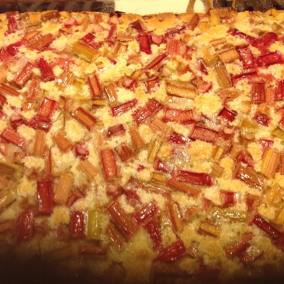 Rhubarb Custard Bars Momof4