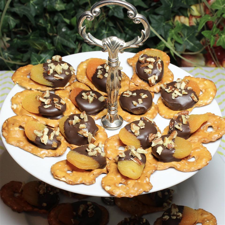 Dark Chocolate Covered Apricot Pretzel Crisps®