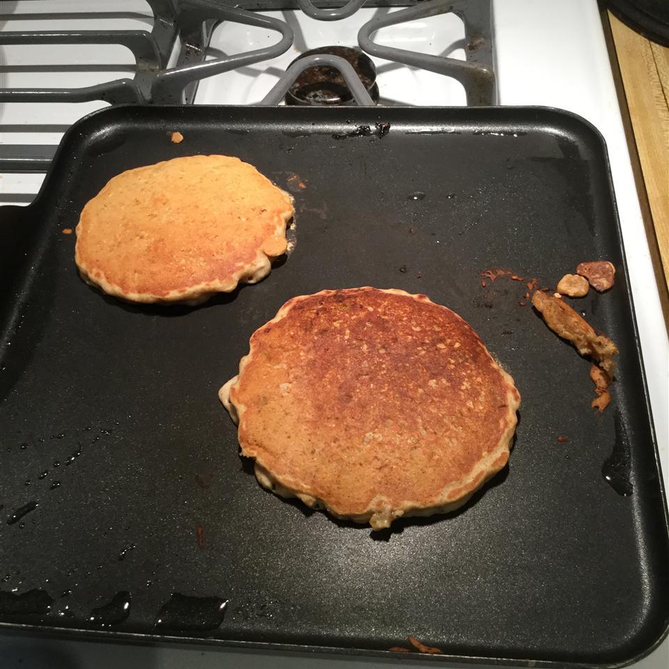 Oatmeal Rhubarb Pancakes Samantha Wendt