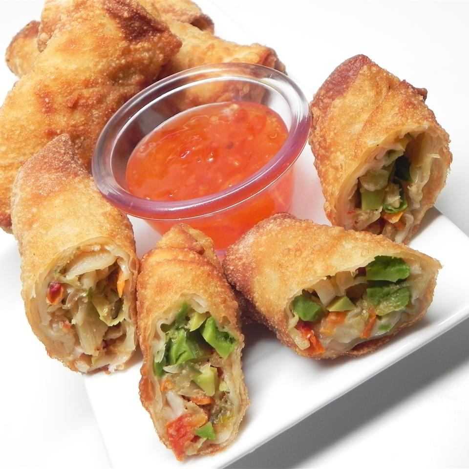 Avocado and Sun-Dried Tomato Spring Rolls