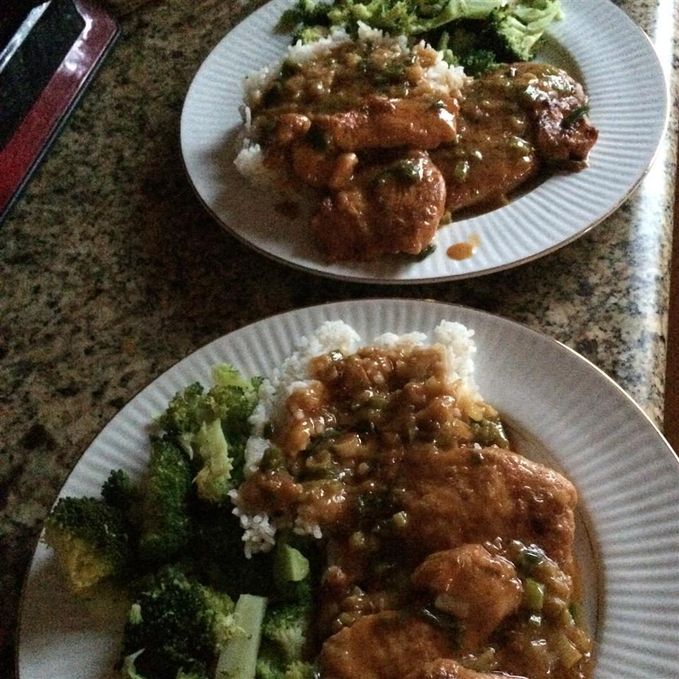 Chicken Breasts with Chipotle Green Onion Gravy