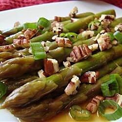 asian asparagus salad with pecans recipe