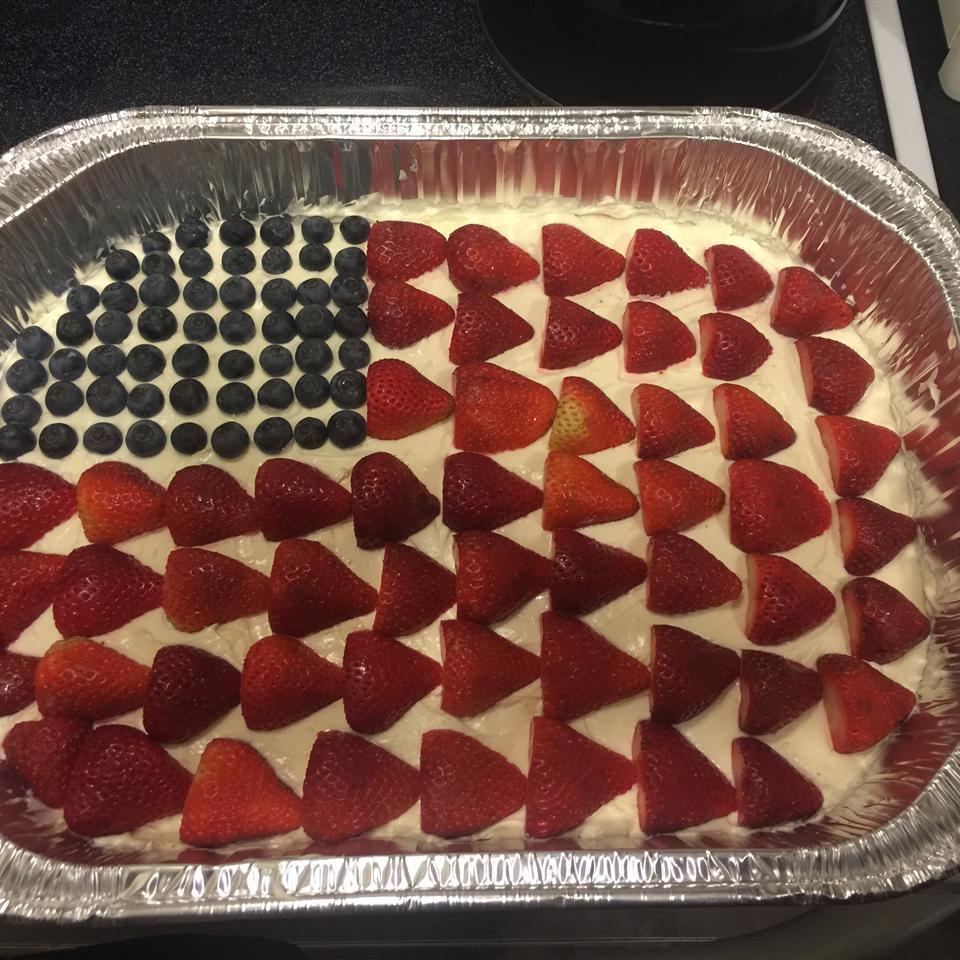 No-Bake Cheesecake Flag Cake MSJ9185