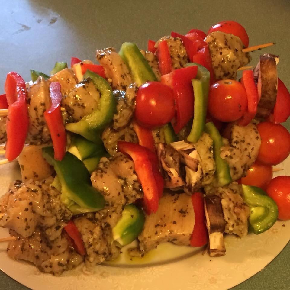 Chicken Kabobs Mexicana