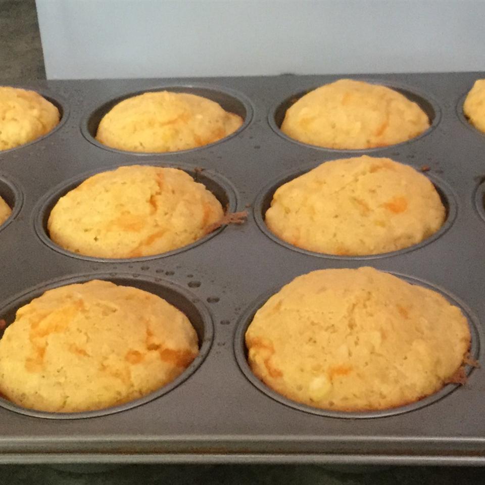 Cornbread Muffins with Cheddar Cheese saffie