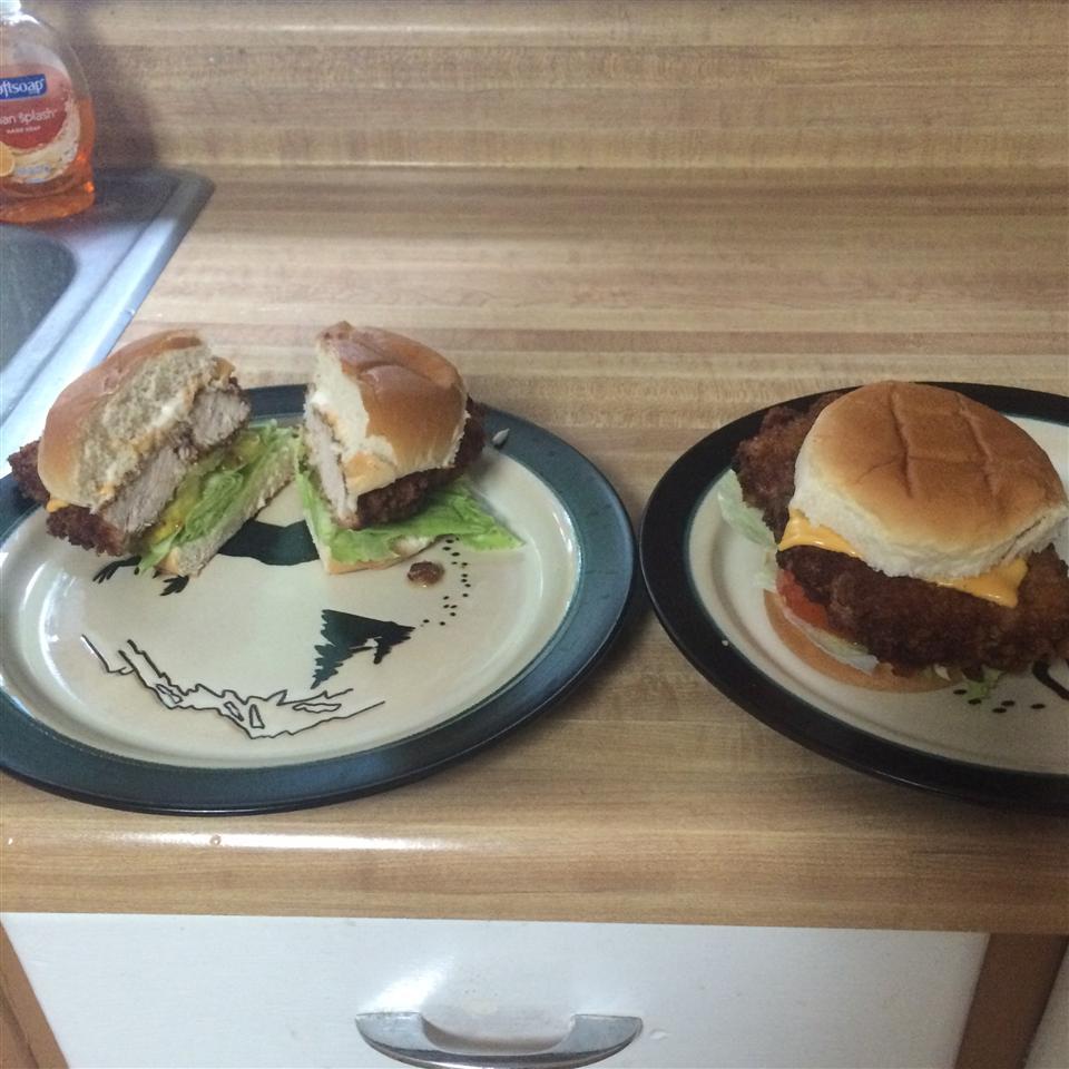 Traditional Indiana Breaded Tenderloin Sandwich