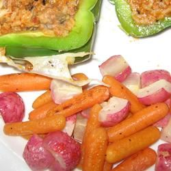 Roasted Carrots and Radishes