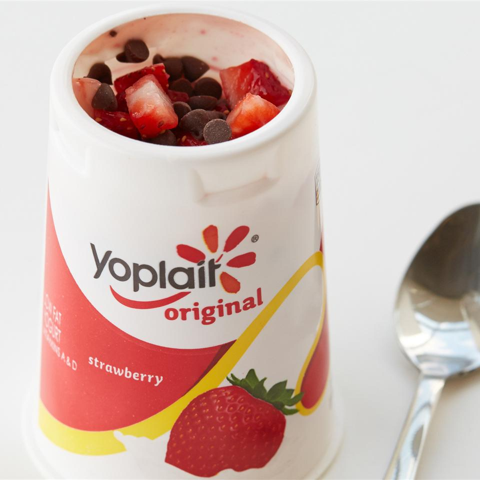 Double Chocolate-Dipped Strawberry Yogurt Cup