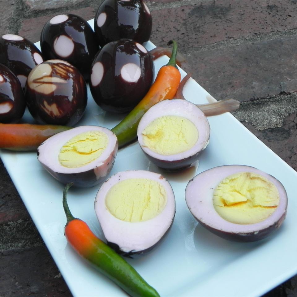 Lance's Balsamic Pickled Eggs