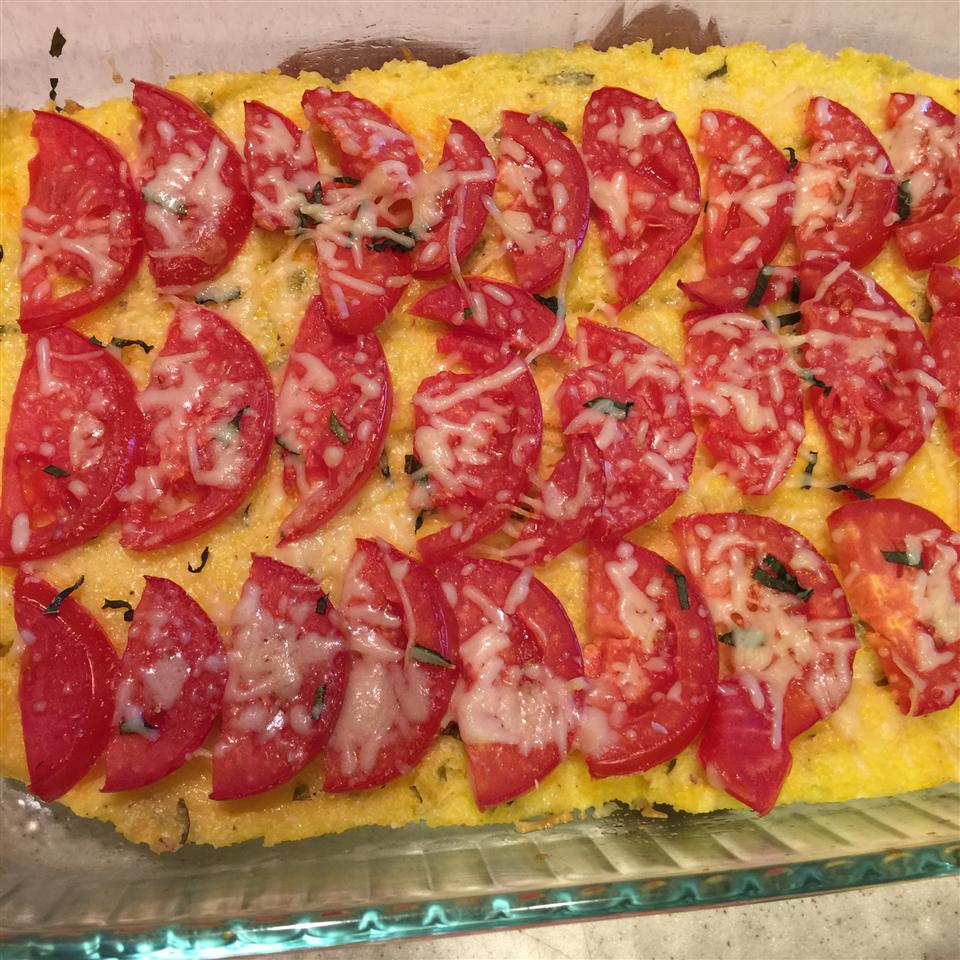 Baked Polenta with Fresh Tomatoes and Parmesan Michelle David Lehman