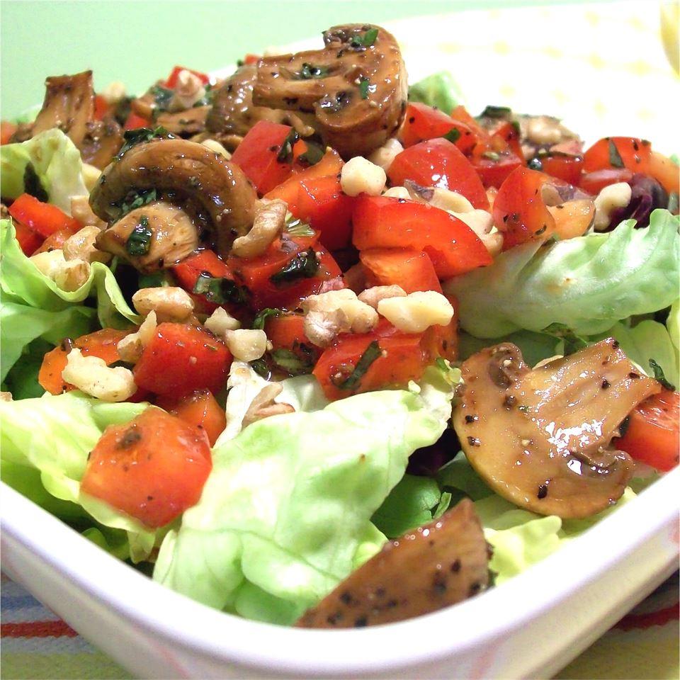 Roasted Mushroom Salad SunnyByrd