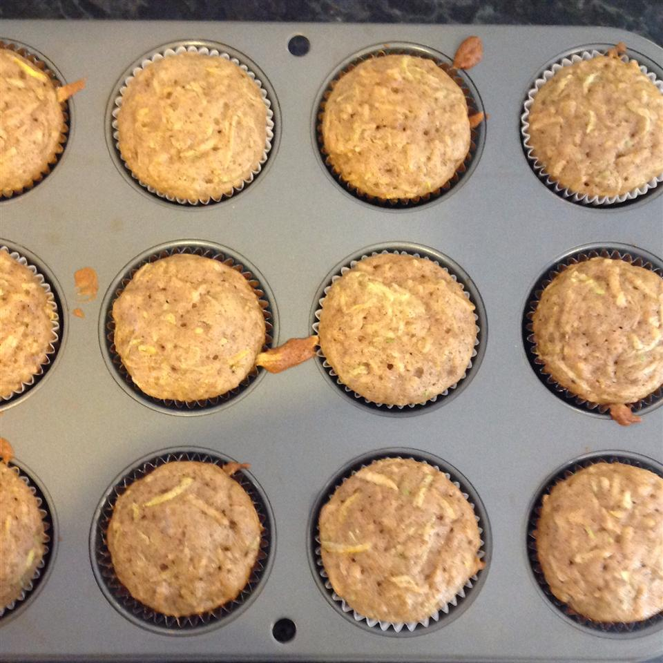 Apple Cinnamon Zucchini Muffins nozoeno