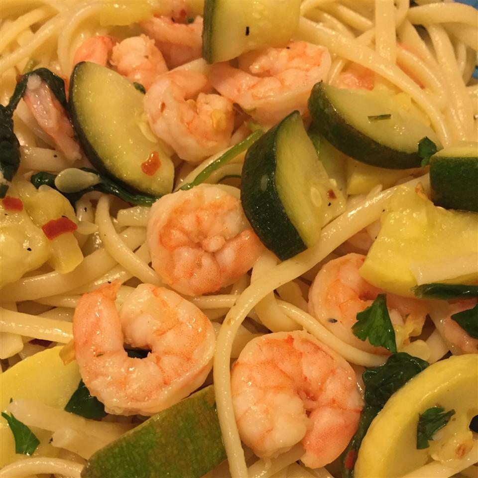 Shrimp Spaghetti in Olive Oil Dressing Amber