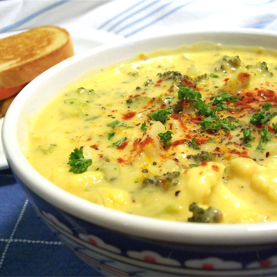 Tim Perry's Soup (Creamy Curry Cauliflower and Broccoli Soup)