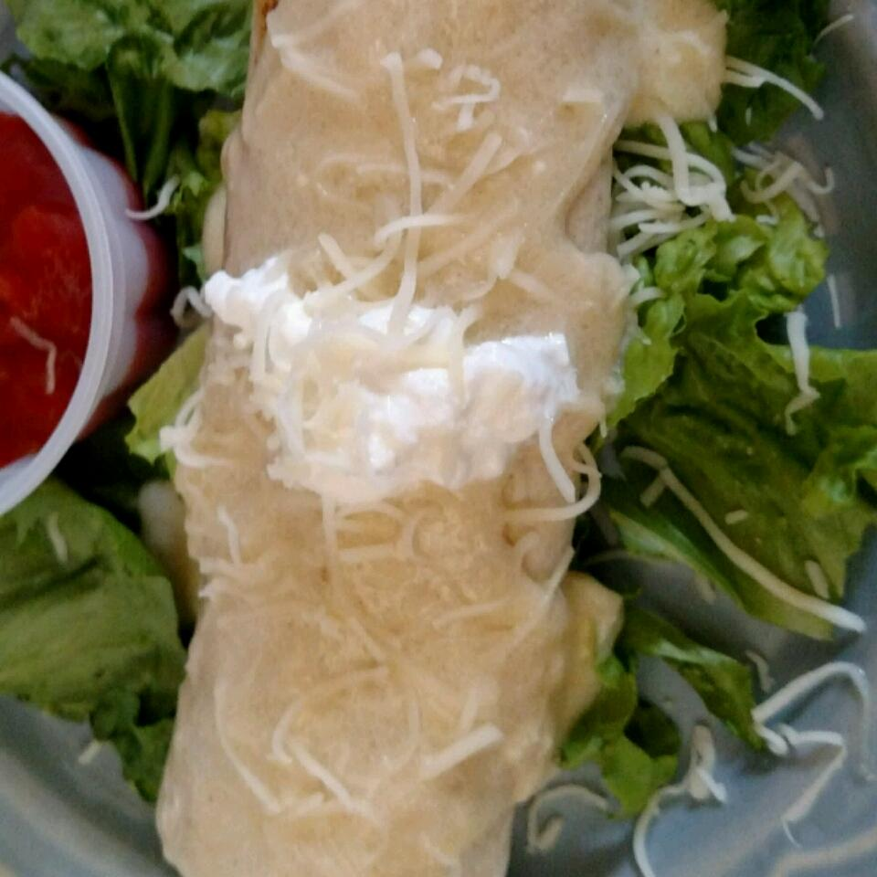 Chicken Chimichangas with Sour Cream Sauce steve