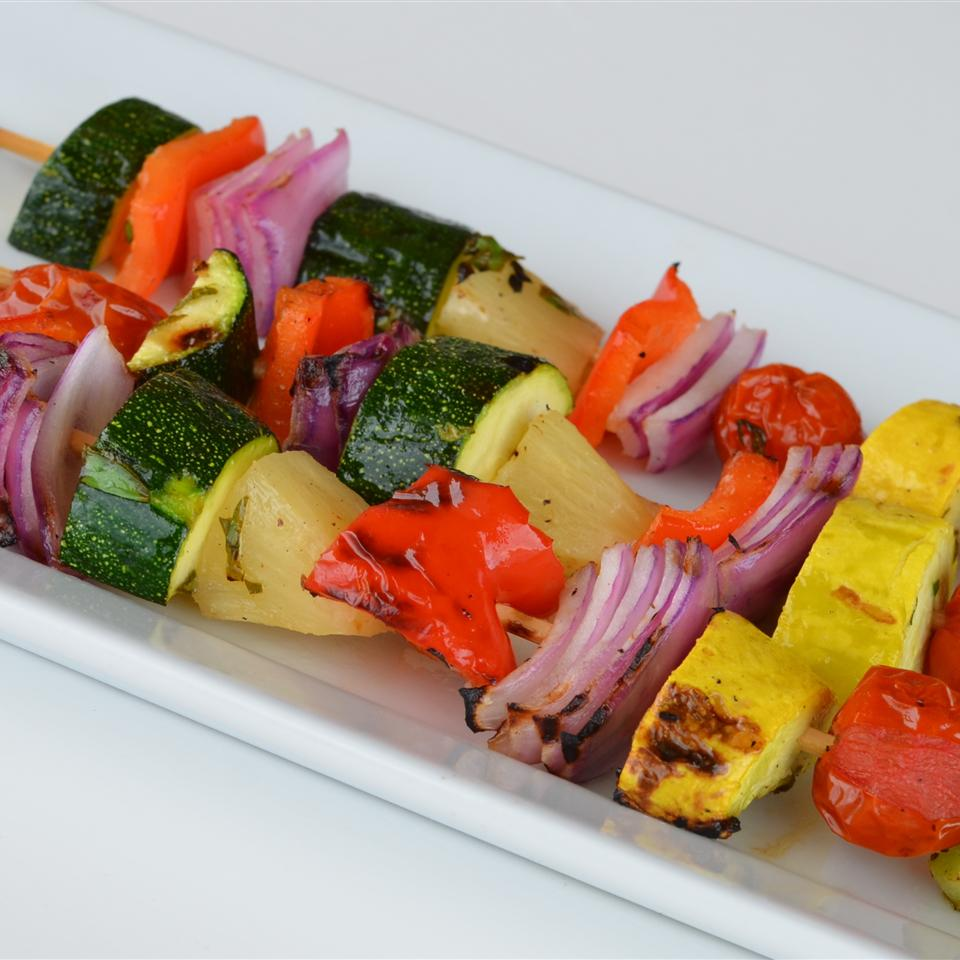 Grilled Fruit and Vegetable Kabobs Lela