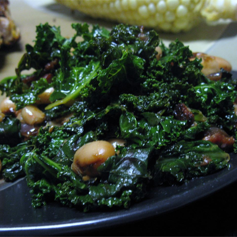 Greens with Cannellini Beans and Pancetta mommyluvs2cook