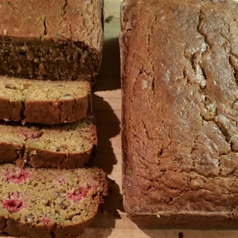 Gluten-Free Raspberry Zucchini Bread