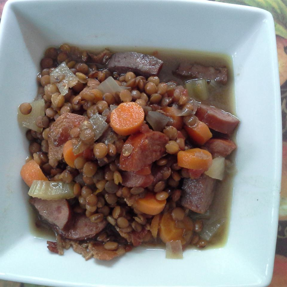 Slow Cooker Lentils and Sausage SORSHA24