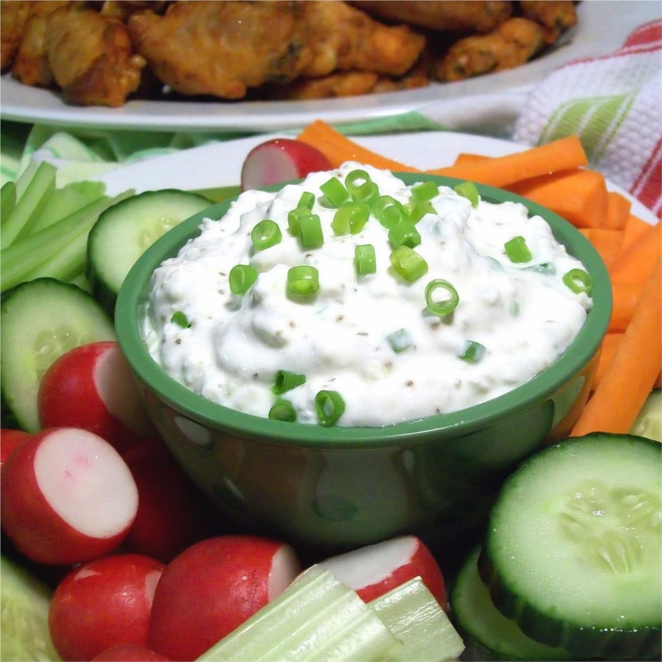 """""""Nice! I like the texture of the cottage cheese in this,"""" says SunnyByrd. """"I might go a little heavier on the green onion and blue cheese, but the flavor does develop as it chills."""""""