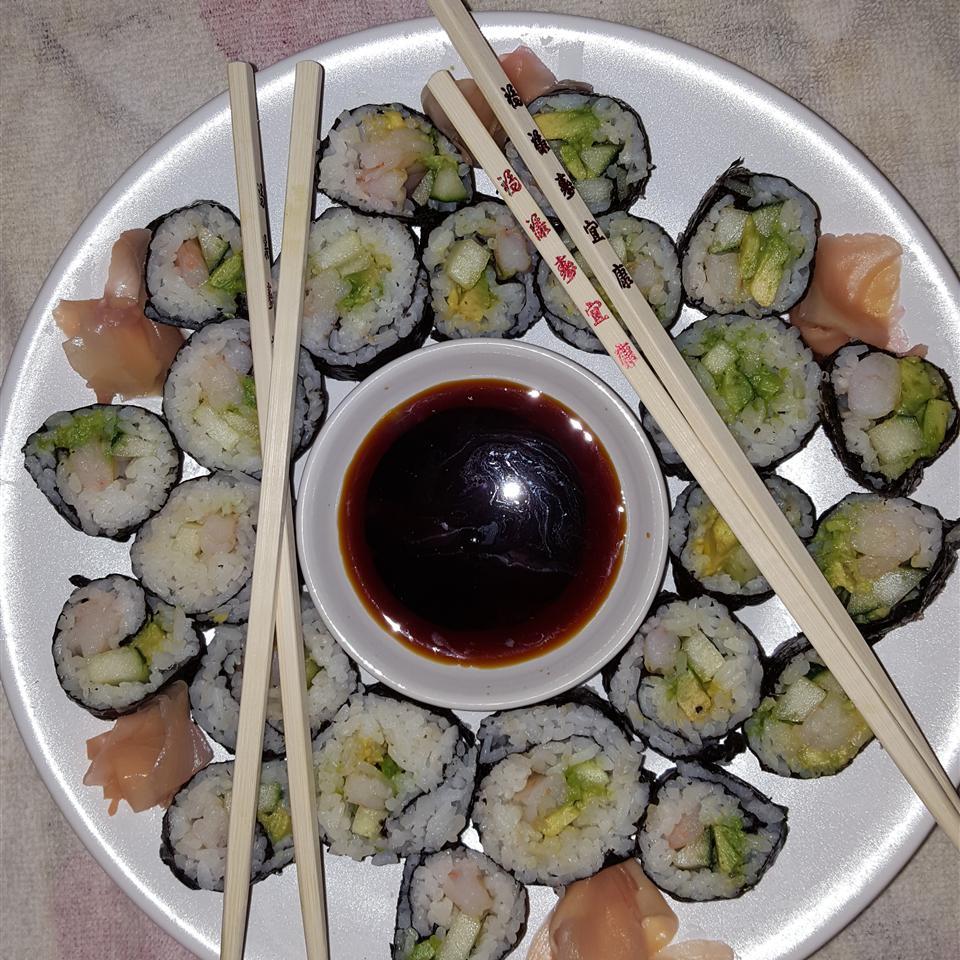 Cucumber and Avocado Sushi Jazzy Courtney