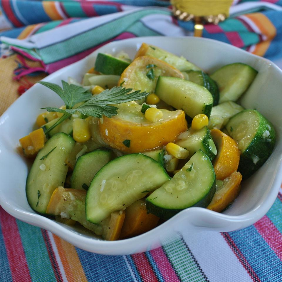 Garlicky Summer Squash and Fresh Corn image