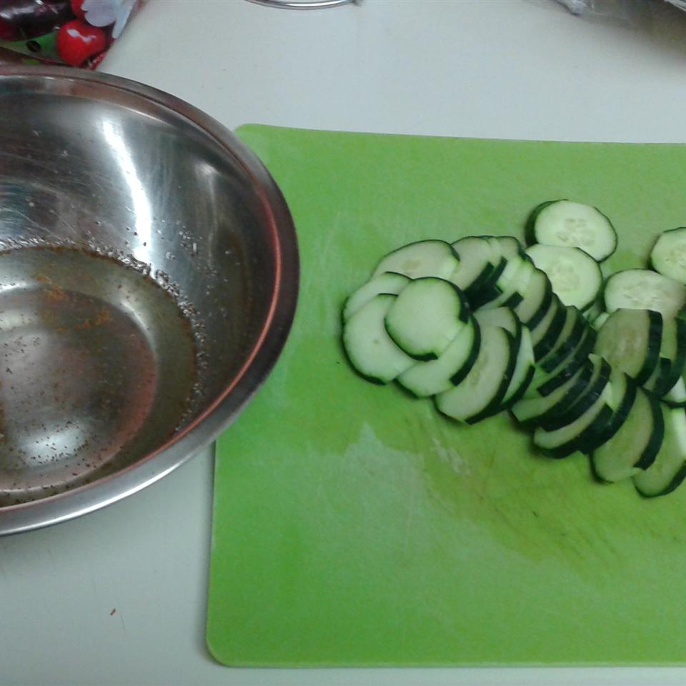 Crisp Marinated Cucumbers