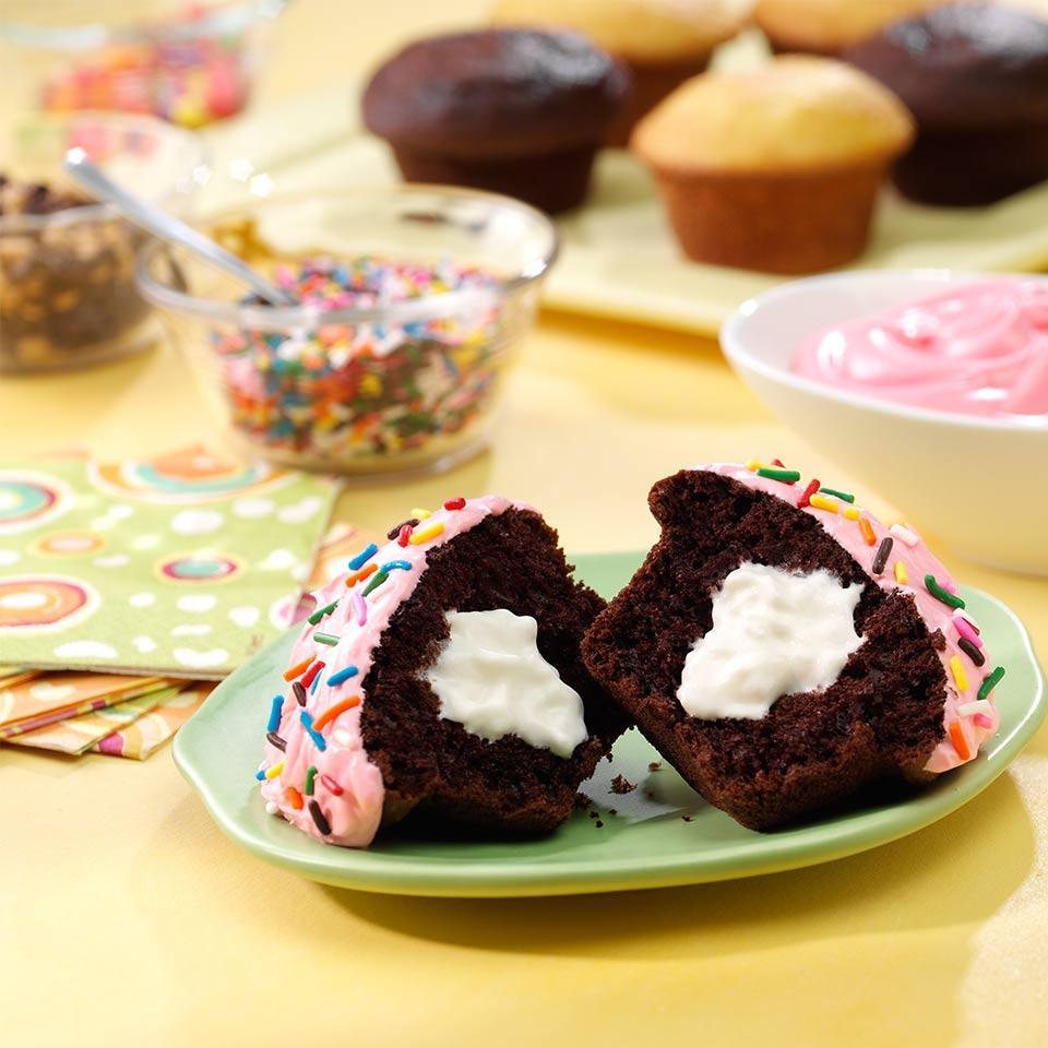 Reddi-wip Filled Cupcakes