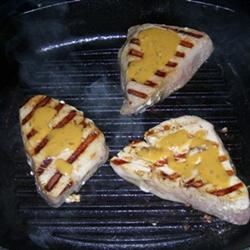 Grilled Tuna Steaks with Dill Sauce Dorothy