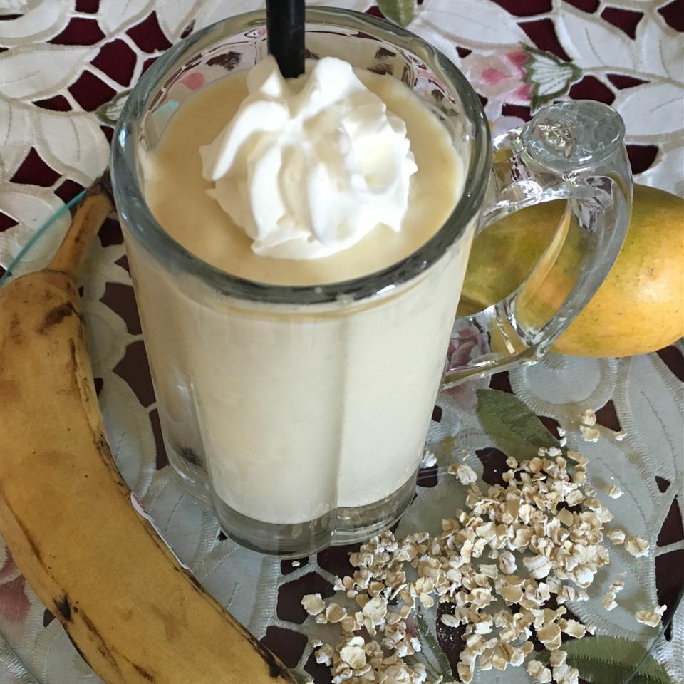 Mango Oatmeal Breakfast Smoothie