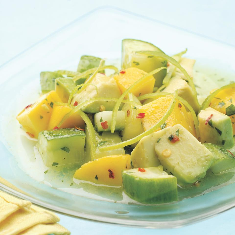 Tropical Cucumber Salad EatingWell Test Kitchen