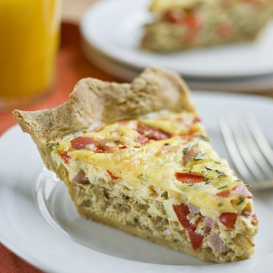 Ham & Swiss Quiche EatingWell Test Kitchen