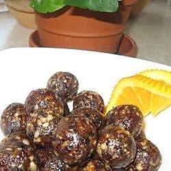 orange fruit nut truffles recipe