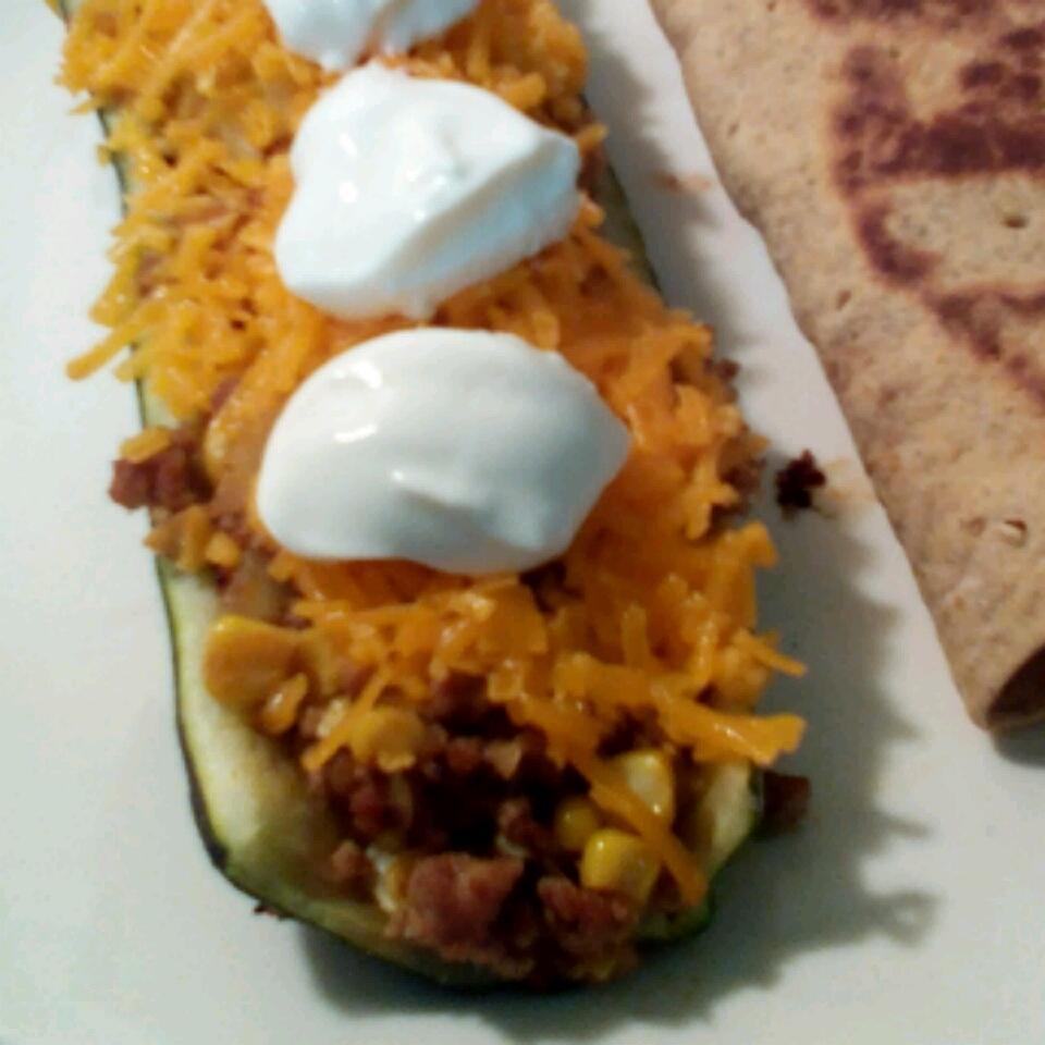 Taco-Stuffed Zucchini Boats Nicholette Daniels